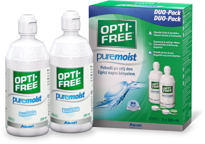 Roztok OPTI-FREE PureMoist 2 x 300 ml s pouzdry