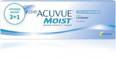 1 Day Acuvue Moist for Astigmatism (30 čoček) balení 3+1
