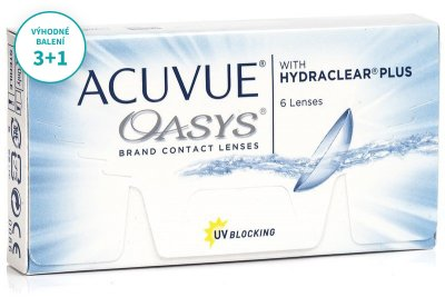 Acuvue Oasys with Hydraclear Plus (6 čoček) balení 3+1